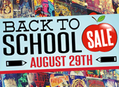 Huge Back to School Sale at Our Stores August 29 - One Day Only