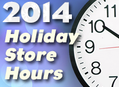 2014 Holiday Store Hours