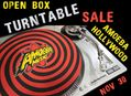 Used & Open Box Turntable Sale at Amoeba Hollywood Wednesday, November 30th