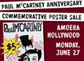 Paul McCartney Anniversary Commemorative Poster Sale at Amoeba Hollywood June 27