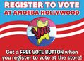Register to Vote at Amoeba Hollywood & Get a Free Vote Button