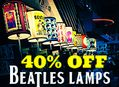 Beatles Lamps Sale at Amoeba Hollywood Thursday, June 30