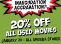 Inauguration Day Movie Sale at Amoeba Friday, January 20th