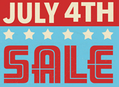 4th of July Sales at Our Stores