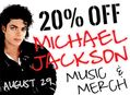 20% Off Michael Jackson Music & Merch at Our Stores August 29th
