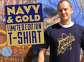 New Limited Edition Navy and Gold T-Shirt
