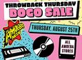 Throwback Thursday BOGO Sale at Our Stores August 25th