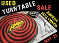 Used Turntable Sale at Amoeba Hollywood Monday, May 23