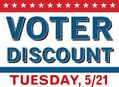 Voter Discount at Amoeba Hollywood Tuesday, May 21