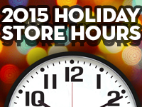2015 Holiday Store Hours