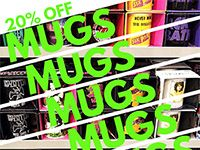 One Day Sale on Mugs at Our Stores Saturday, May 28