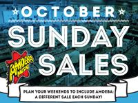 October Sunday Sales at Our Stores