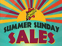 Summer Sunday Sales at Our Stores