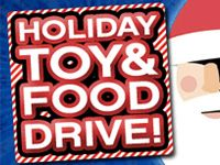 Participate in our Toy & Food Drives and Receive a Discount Coupon
