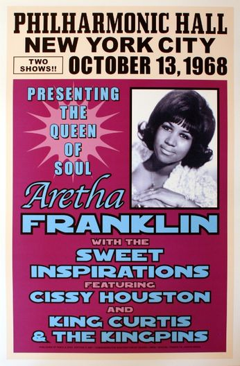 Aretha Franklin - Philharmonic Hall - October 13, 1968 (Poster)