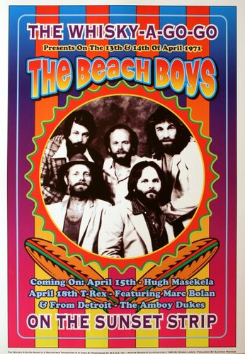 The Beach Boys - The Whiskey A Go Go - April 13-14, 1971 (Poster)