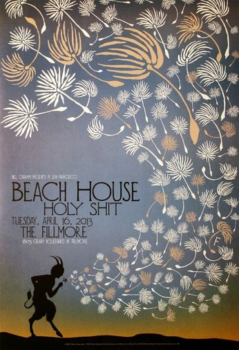 Beach House - The Fillmore - April 16, 2013 (Poster)