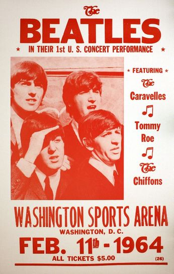 The Beatles - Washington Sports Arena - February 11, 1964 (Poster)