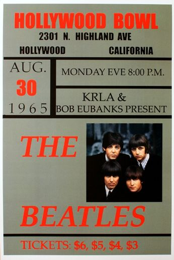 The Beatles - The Hollywood Bowl - August 30, 1965 (Poster)
