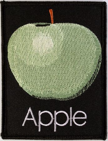 The Beatles - Apple On Black Patch