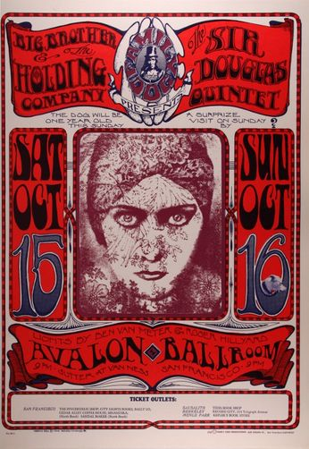 Big Brother & The Holding Company - The Avalon Ballroom - October 15-16, 1966 (Poster)