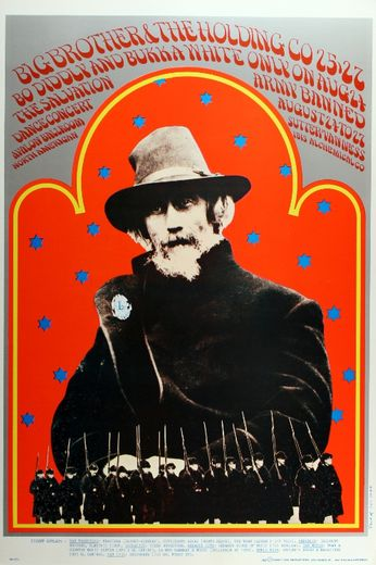 Big Brother & the Holding Company / Bo Diddly - The Avalon Ballroom - August 24-27, 1967 (Poster)
