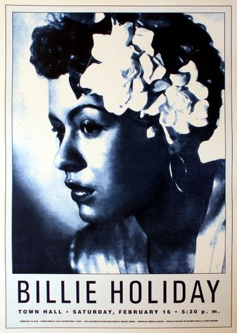 Billie Holiday - Town Hall - February 16, 1946 (Poster)