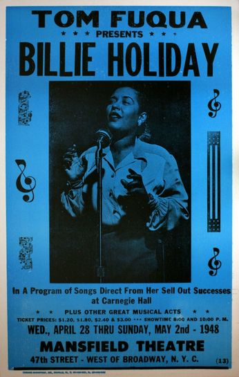 Billie Holiday - Mansfield Theater - May 2, 1948 (Poster)