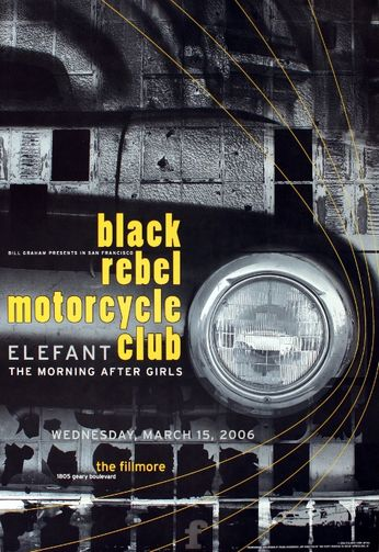 Black Rebel Motorcycle Club - The Fillmore - March 15, 2006 (Poster)