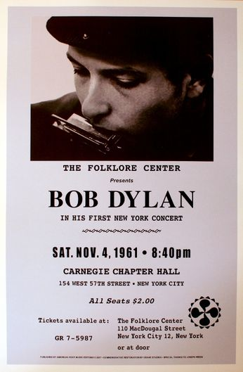 Bob Dylan - Carnegie Chapter Hall - November 4, 1961 (Poster)