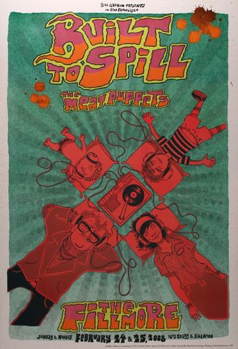 Built to Spill - The Fillmore - February 24, 25. 2008 (Poster)