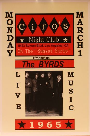 The Byrds - Ciro's Night Club - March 1, 1965 (Poster)