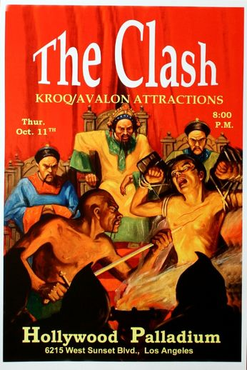 The Clash - Hollywood Palladium - October 11, 1979 (Poster)