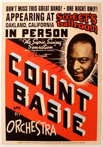Count Basie - Sweet's Ballroom - October 1939 (Poster)