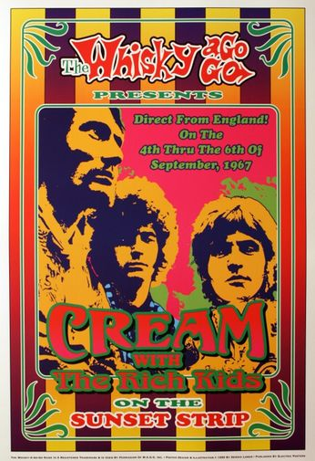 Cream - The Whiskey A Go Go - September 4-6, 1967 (Poster)