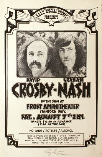 David Crosby / Graham Nash - Frost Amphitheater - August 7 1982 (Poster)