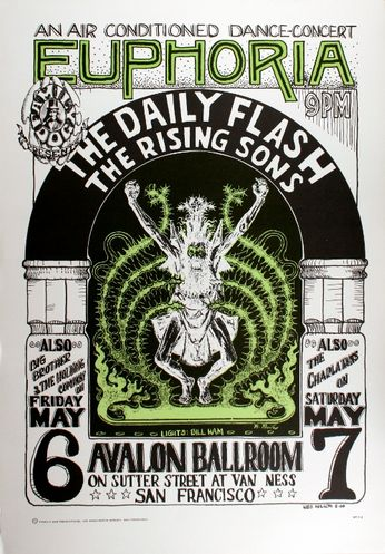 The Daily Flash - The Avalon Ballroom - May 6-7, 1966 (Poster)