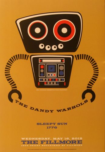 The Dandy Warhols - The Fillmore - May 16, 2012 (Poster)