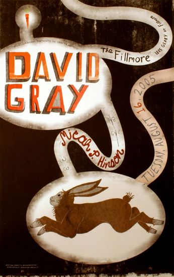 David Gray - The Fillmore - August 16, 2005 (Poster)