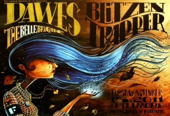 Dawes - The Fillmore - November 15, 2011 (Poster)