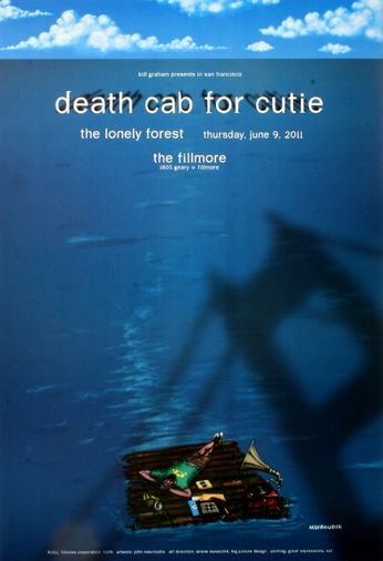 Death Cab For Cutie - The Fillmore - June 9, 2011 (Poster)