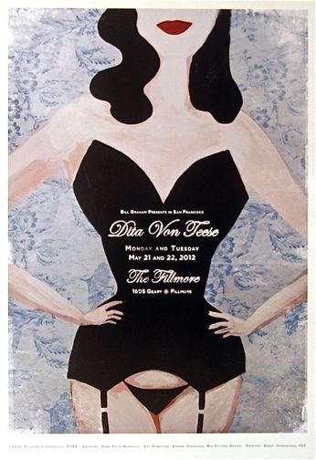 Dita Von Teese - The Fillmore - May 21-22, 2012 (Poster)