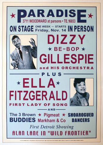 Dizzy Gillespie / Ella Fitzgerald - The Paradise - November 14-20, 1947 (Poster)