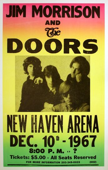 The Doors - New Haven Arena - December 10, 1967 (Poster)
