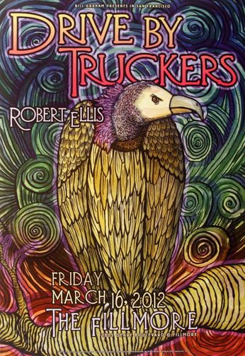 Drive-By Truckers - The Fillmore - March 16, 2012 (Poster)