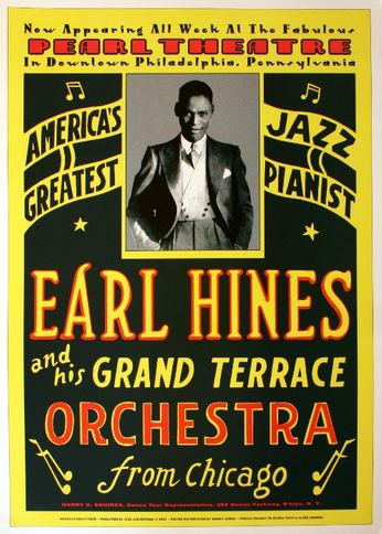 Earl Hines - The Pearl Theatre - 1929 (Poster)