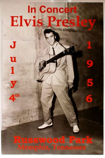 Elvis Presley - Russwood Park - July 4, 1956 (Poster)