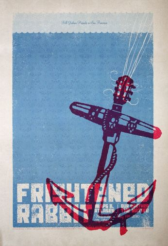 Frightened Rabbit - The Fillmore - May 19, 2010 (Poster)