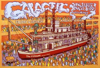 Galactic - The Fillmore - March 30-31, 2012 (Poster)