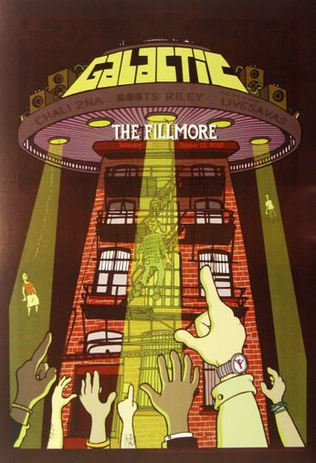 Galactic - The Fillmore - October 13, 2007 (Poster)